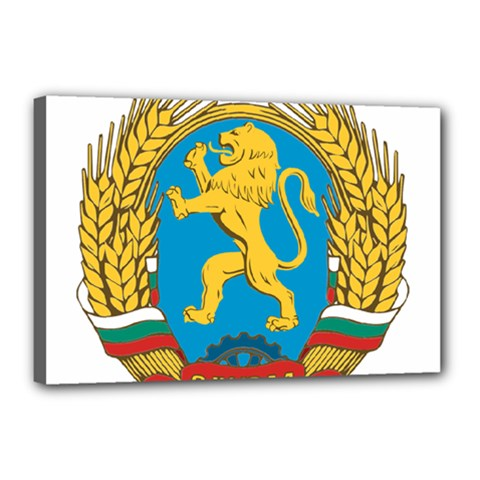 Coat Of Arms Of Bulgaria (1948-1968) Canvas 18  X 12  by abbeyz71
