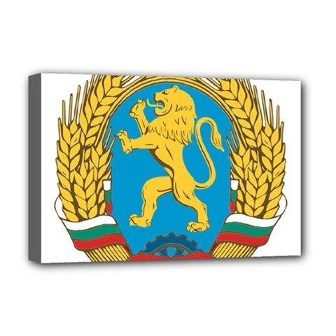 Coat Of Arms Of Bulgaria (1948-1968) Deluxe Canvas 18  X 12   by abbeyz71