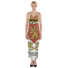 Coat Of Arms Of Bulgaria (1927 1946) Fitted Maxi Dress by abbeyz71