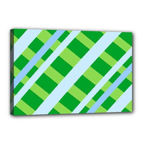 Fabric Cotton Geometric Diagonal Canvas 18  X 12  by Nexatart