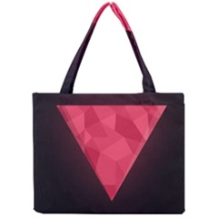 Geometric Triangle Pink Mini Tote Bag