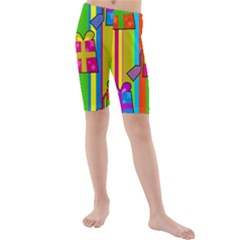 Holiday Gifts Kids  Mid Length Swim Shorts by Nexatart