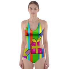 Holiday Gifts Cut-out One Piece Swimsuit by Nexatart