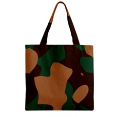 Military Camouflage Zipper Grocery Tote Bag
