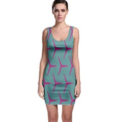 Pattern Background Structure Pink Sleeveless Bodycon Dress by Nexatart