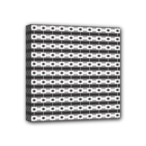 Pattern Background Texture Black Mini Canvas 4  x 4