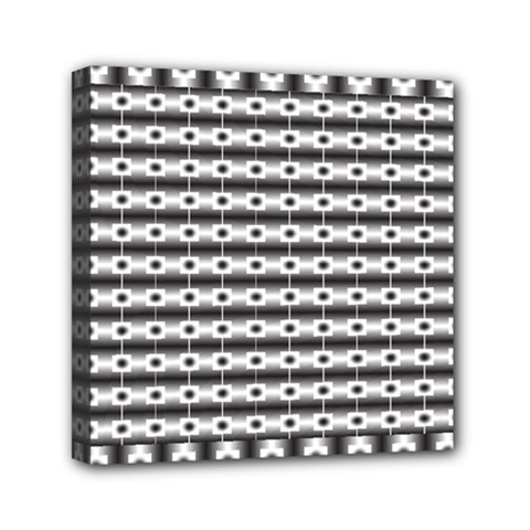 Pattern Background Texture Black Mini Canvas 6  x 6