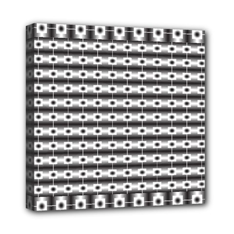 Pattern Background Texture Black Mini Canvas 8  x 8
