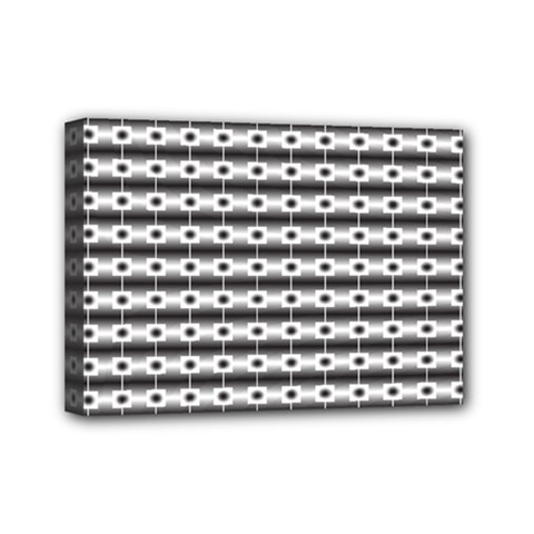 Pattern Background Texture Black Mini Canvas 7  x 5