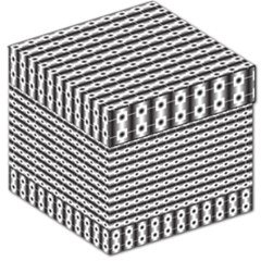 Pattern Background Texture Black Storage Stool 12
