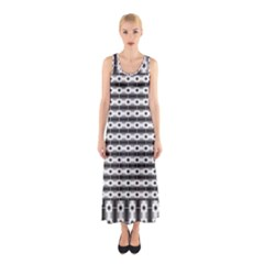 Pattern Background Texture Black Sleeveless Maxi Dress