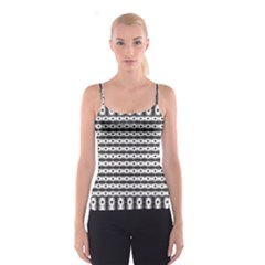 Pattern Background Texture Black Spaghetti Strap Top