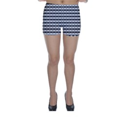Pattern Background Texture Black Skinny Shorts