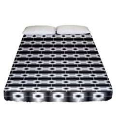 Pattern Background Texture Black Fitted Sheet (Queen Size)