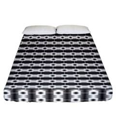 Pattern Background Texture Black Fitted Sheet (California King Size)
