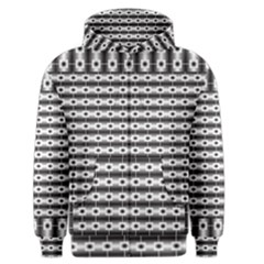 Pattern Background Texture Black Men s Zipper Hoodie