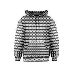 Pattern Background Texture Black Kids  Zipper Hoodie