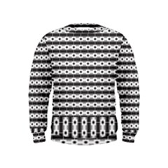 Pattern Background Texture Black Kids  Sweatshirt
