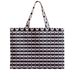 Pattern Background Texture Black Zipper Mini Tote Bag