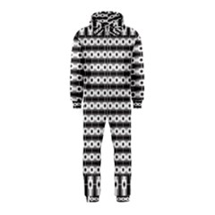 Pattern Background Texture Black Hooded Jumpsuit (Kids)