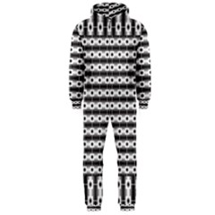 Pattern Background Texture Black Hooded Jumpsuit (Men)