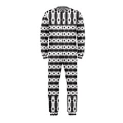 Pattern Background Texture Black OnePiece Jumpsuit (Kids)