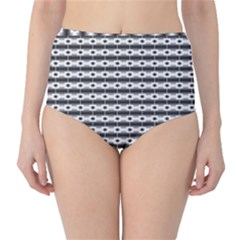 Pattern Background Texture Black High-Waist Bikini Bottoms