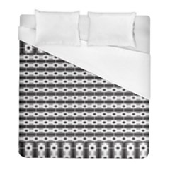 Pattern Background Texture Black Duvet Cover (Full/ Double Size)
