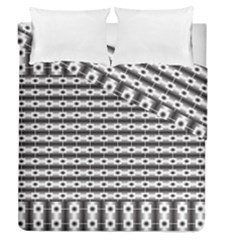 Pattern Background Texture Black Duvet Cover Double Side (Queen Size)
