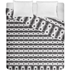 Pattern Background Texture Black Duvet Cover Double Side (California King Size)