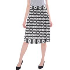 Pattern Background Texture Black Midi Beach Skirt