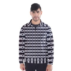 Pattern Background Texture Black Wind Breaker (Men)