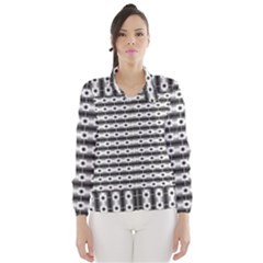 Pattern Background Texture Black Wind Breaker (Women)