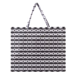 Pattern Background Texture Black Zipper Large Tote Bag