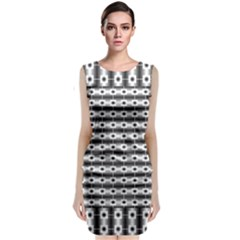 Pattern Background Texture Black Classic Sleeveless Midi Dress