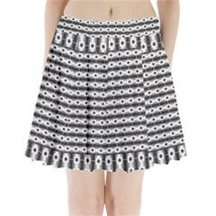 Pattern Background Texture Black Pleated Mini Skirt