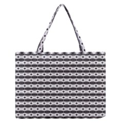 Pattern Background Texture Black Medium Zipper Tote Bag