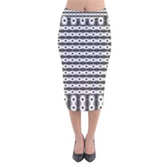 Pattern Background Texture Black Velvet Midi Pencil Skirt