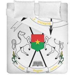 Coat Of Arms Of Burkina Faso Duvet Cover Double Side (california King Size) by abbeyz71