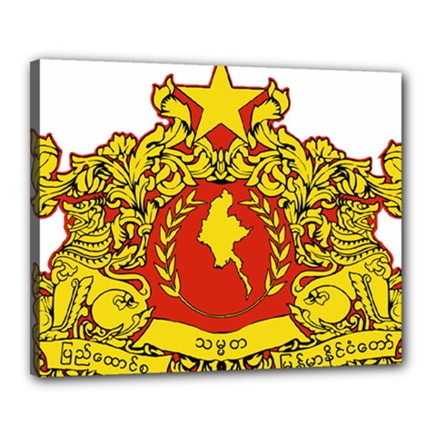 State Seal Of Myanmar Canvas 20  X 16  by abbeyz71