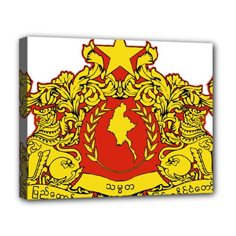 State Seal Of Myanmar Deluxe Canvas 20  X 16   by abbeyz71