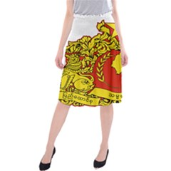 State Seal Of Myanmar Midi Beach Skirt by abbeyz71