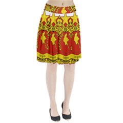 State Seal Of Myanmar Pleated Skirt by abbeyz71