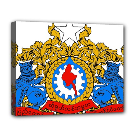 State Seal Of Burma, 1974 2008 Deluxe Canvas 20  X 16   by abbeyz71