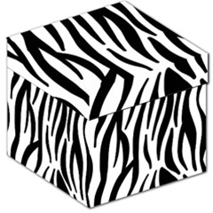 Seamless Zebra Pattern Storage Stool 12