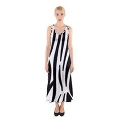 Seamless Zebra Pattern Sleeveless Maxi Dress