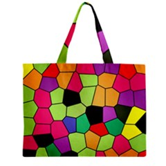 Stained Glass Abstract Background Zipper Mini Tote Bag by Nexatart