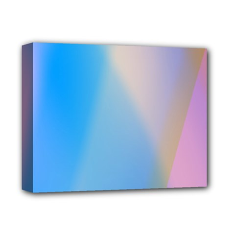 Twist Blue Pink Mauve Background Deluxe Canvas 14  X 11  by Nexatart