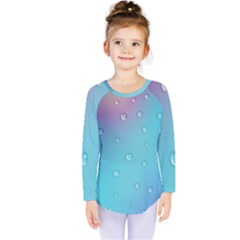 Water Droplets Kids  Long Sleeve Tee by Nexatart