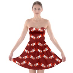 Christmas Crackers Strapless Bra Top Dress by Nexatart